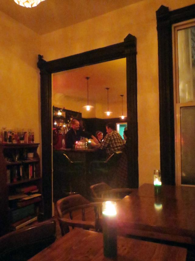 looking into bar area at maison close kensington market toronto