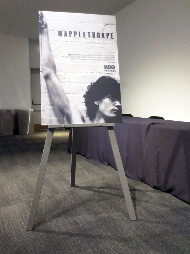 robert mapplethorpe documentary look at the pictures poster in lobby