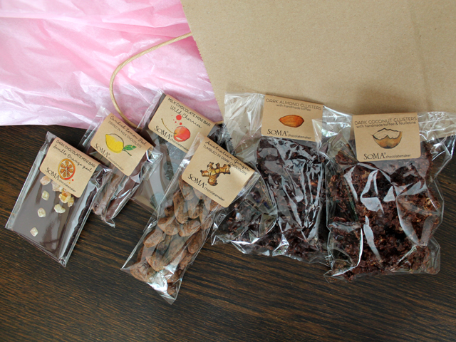 selection of chocolate from soma chocolatemakers king street west toronto