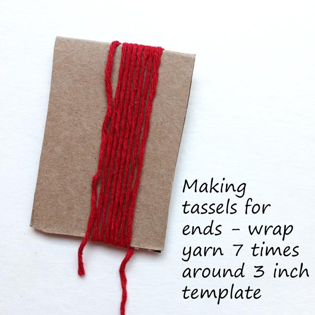 tassel wrap yarn