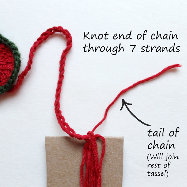 tie to end of chain