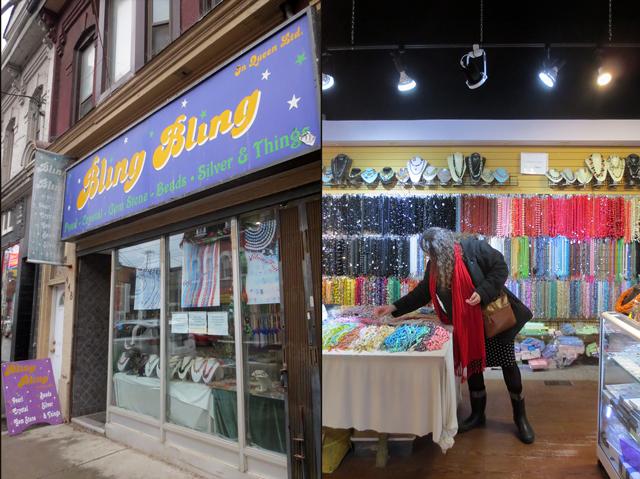 bling bling bead shop queen street west toronto