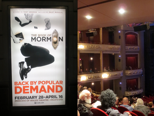 book of mormon at princess of wales theatre toronto