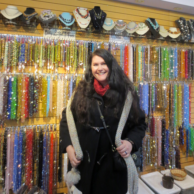 me at the bead store