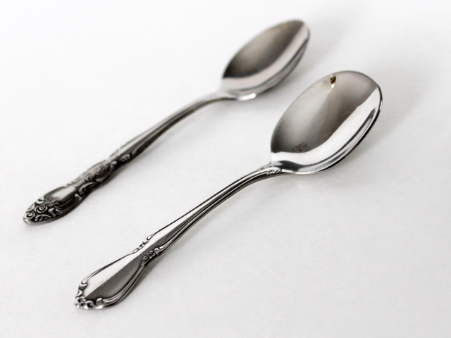 thrift store finds stainless steel small spoons oneidacraft infant chateau