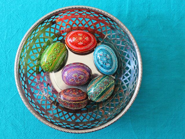 ukrainian painted easter eggs pysanky