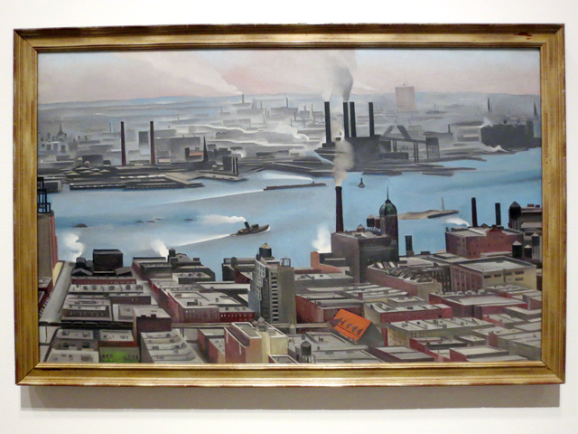 east river from shelton hotel georgia okeeffe painting at ago exhibition