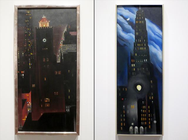 georgia okeeffe at ago toronto art exhibition new york night and ritz tower night