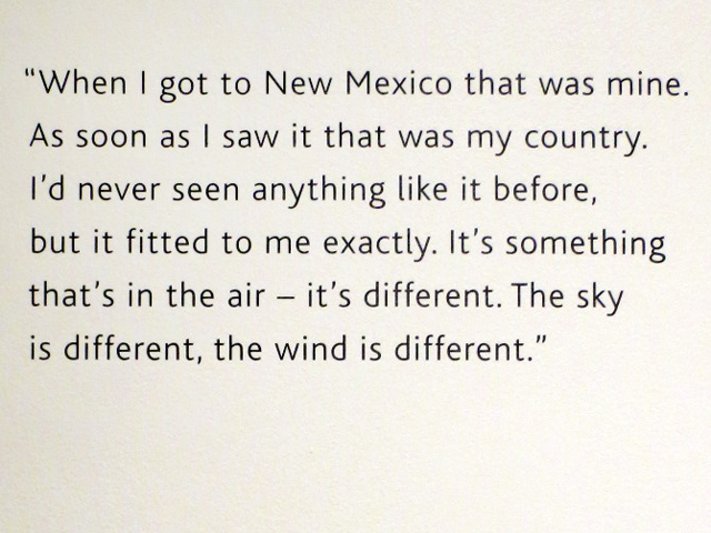 georgia okeeffe quote about new mexico