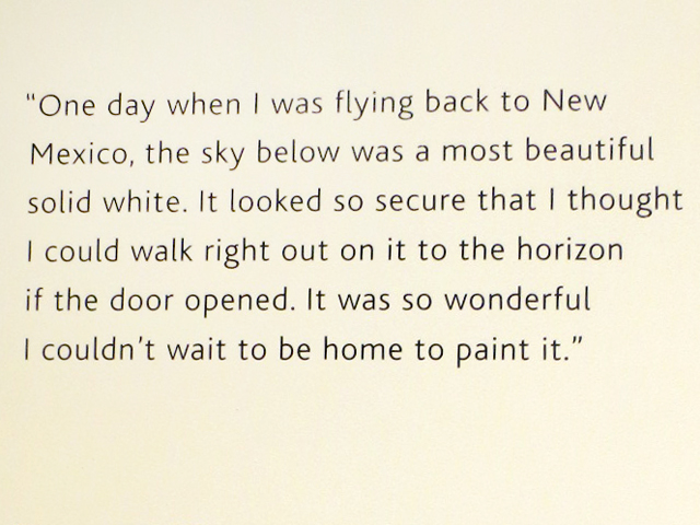 georgia okeeffe quote about the sky as seen when in an airplane