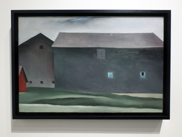 lake george barns painting by georgia okeeffe at ago toronto art exhibition