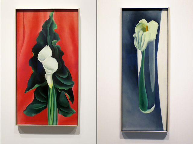 paintings of calla lilies by georgia okeeffe at ago exhibition
