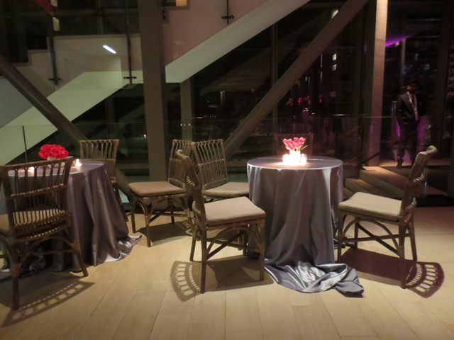 tables at koerner hall gala from contemporary furniture rentals