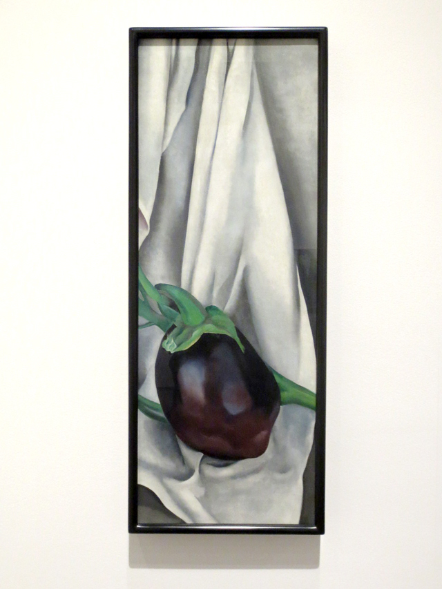 the eggplant by georgia okeeffe at ago toronto art gallery of ontario