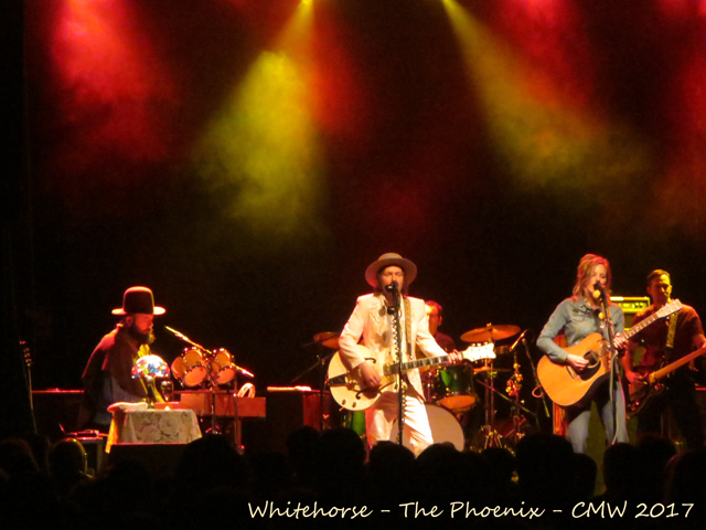 whitehorse band at the phoenix toronto six shooter records canadian music week