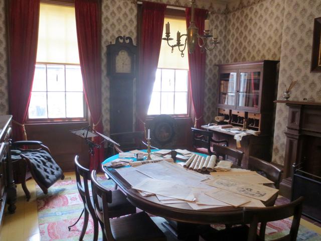 dining room office area mackenzie house museum toronto