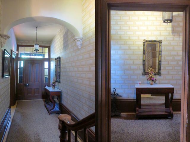 foyer entryway at mackenzie house toronto