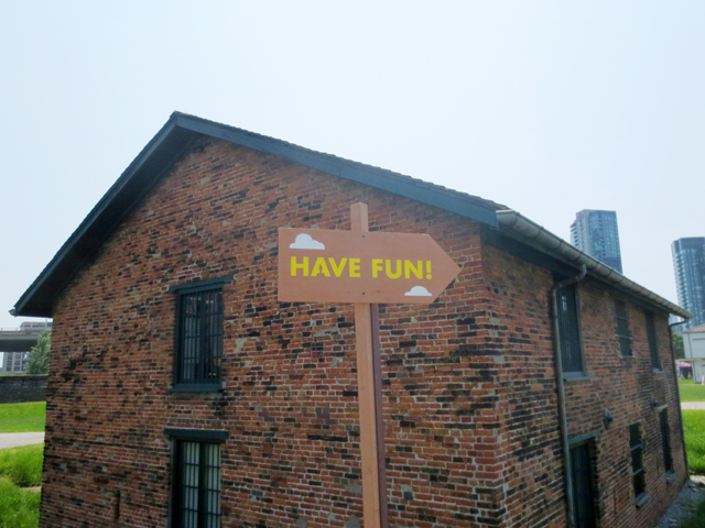have fun sign at field trip music festival 2017 toronto