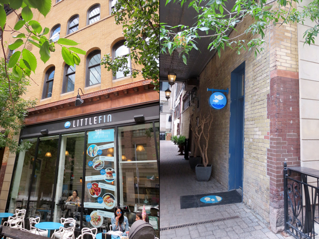 little fin restaurant in historic dineen building yonge street toronto