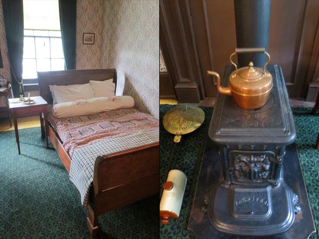master bedroom at mackenzie house historic toronto museum