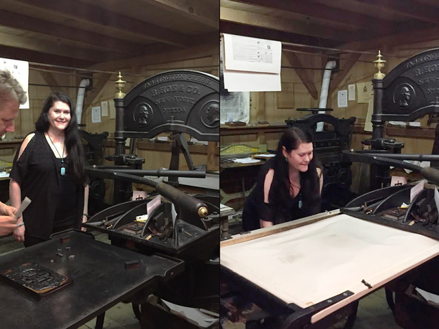 using printing press at mackenzie house museum toronto