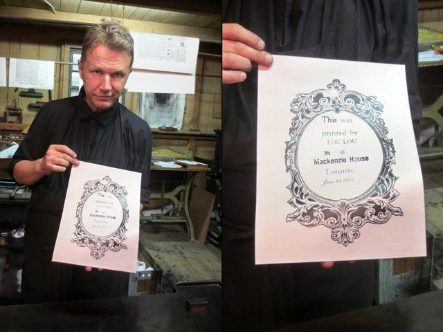vintage printing press demonstration at mackenzie house toronto historic site