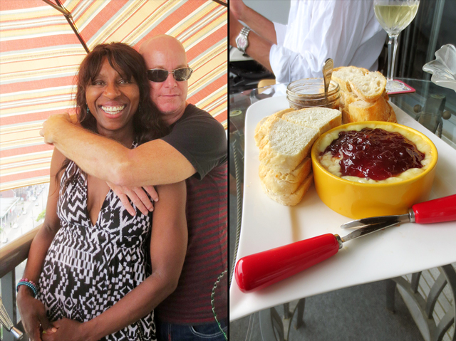c and l and baked brie