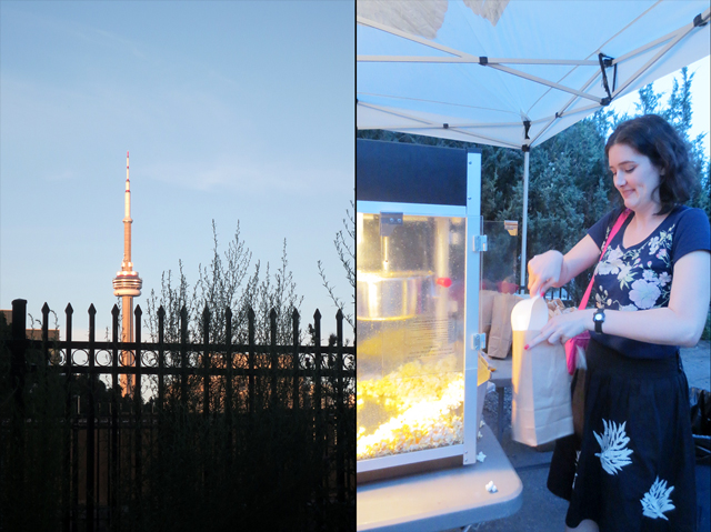 cn tower and popcorn