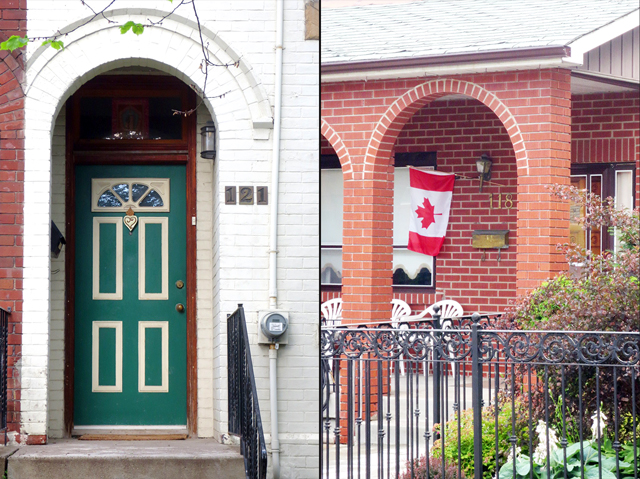 green door and canadian flag