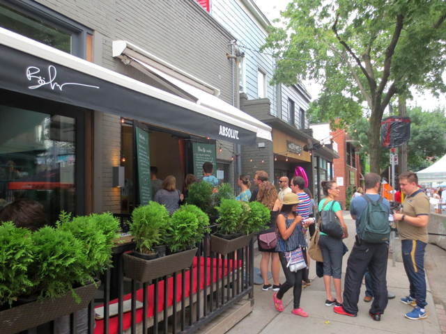 line up at bang band icecream ossington avenue toronto