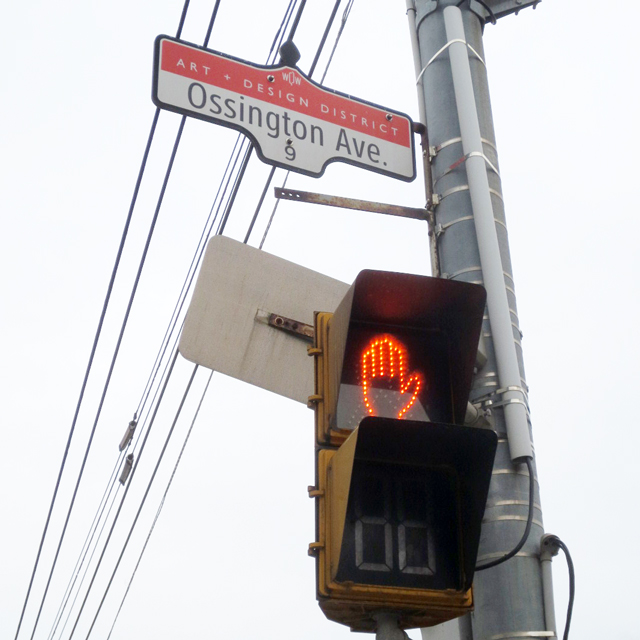ossington avenue toronto street sign