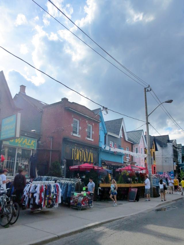 street scene kensington market toronto