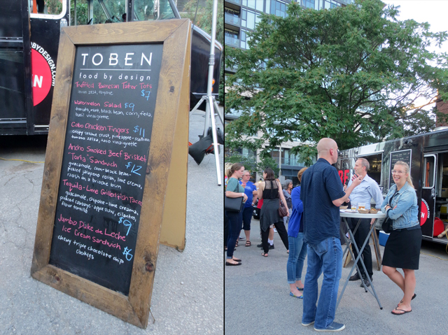 toben food by design food truck at open roof festival toronto