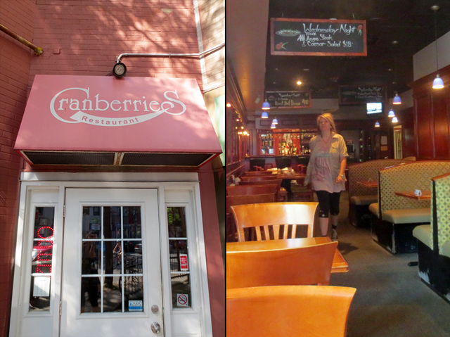 at cranberries restaurant cabbage town toronto