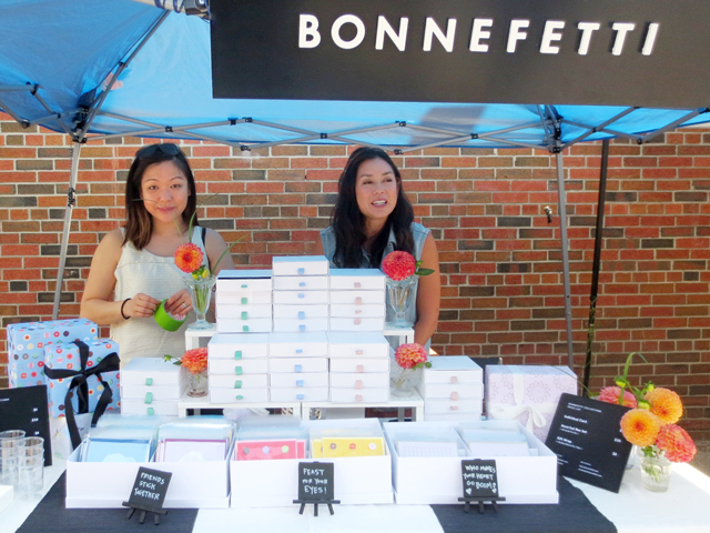 bonnefetti artisan greeting cards and gift wrap at parkdale flea toronto