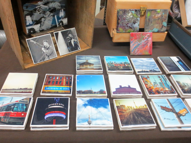 coasters by daily city train at parkdale flea queen street west toronto