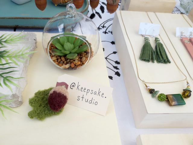 handmade jewellery by keepsake studio toronto at parkdale flea