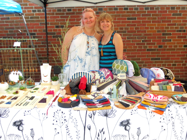 handmade jewellery by keepsake studios and pouches by with a y at parkdale flea toronto