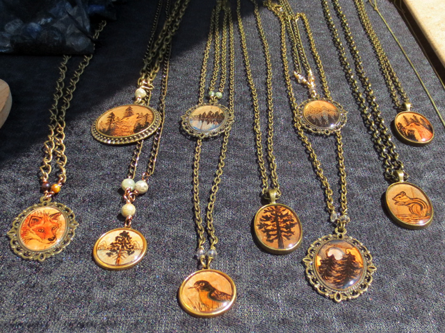 handmade pendents jewellery by wildwitchcrafts toronto artist at parkdale flea