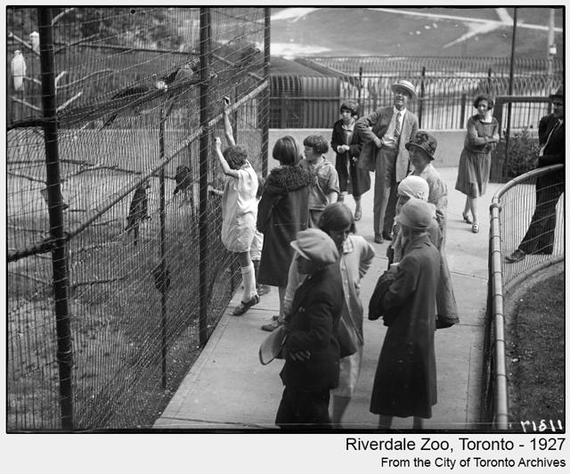 historic photo riverdale zoo toronto 1927