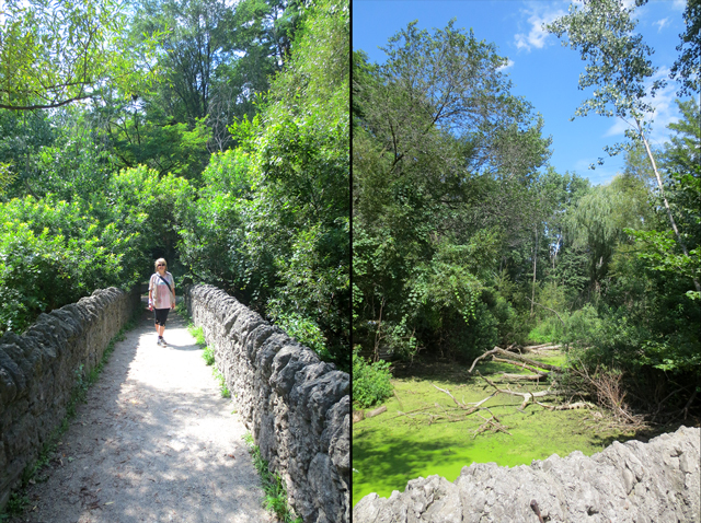 old stone bridge at riverdale farm toronto