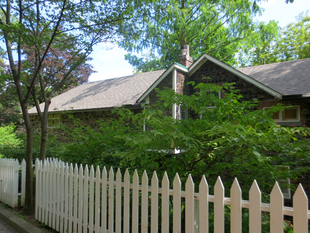 original farm house at riverdale farm toronto seen from the back
