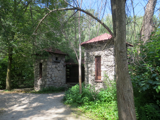 ruin from former riverdale zoo monkey enclosure riverdale farm toronto