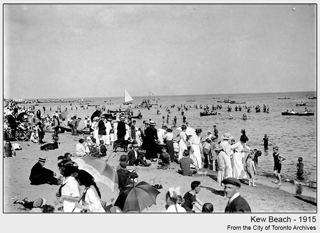 toronto historic photograph Kew Beach 1915