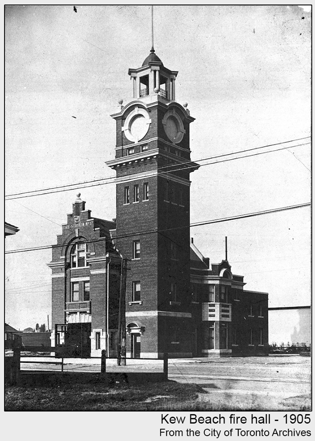 toronto historic photograph Kew Beach fire hall 1905