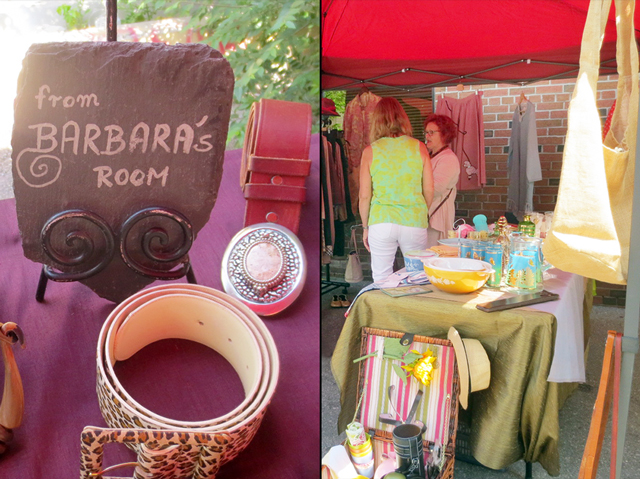 vintage clothes and housewares booth from barbaras room at parkdale flea toronto