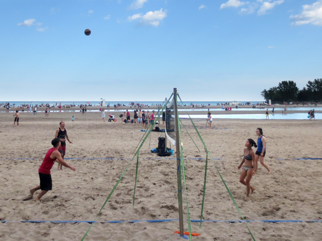 volley ball nets on toronto beaches