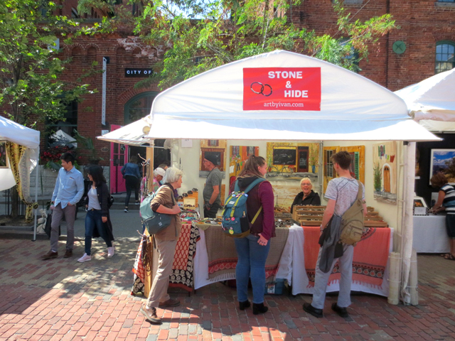 art by ivan stone hide art fest ontario in distillery district toronto