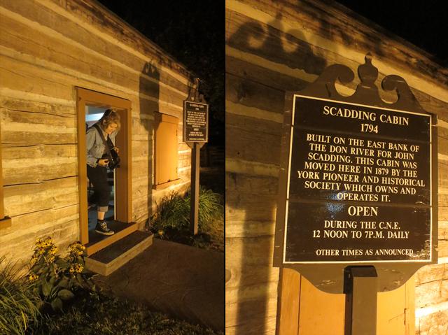 at scadding cabin cne at night