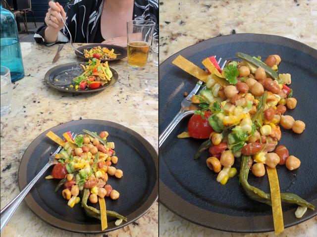 bean salad at macho restaurant fort york boulevard toronto
